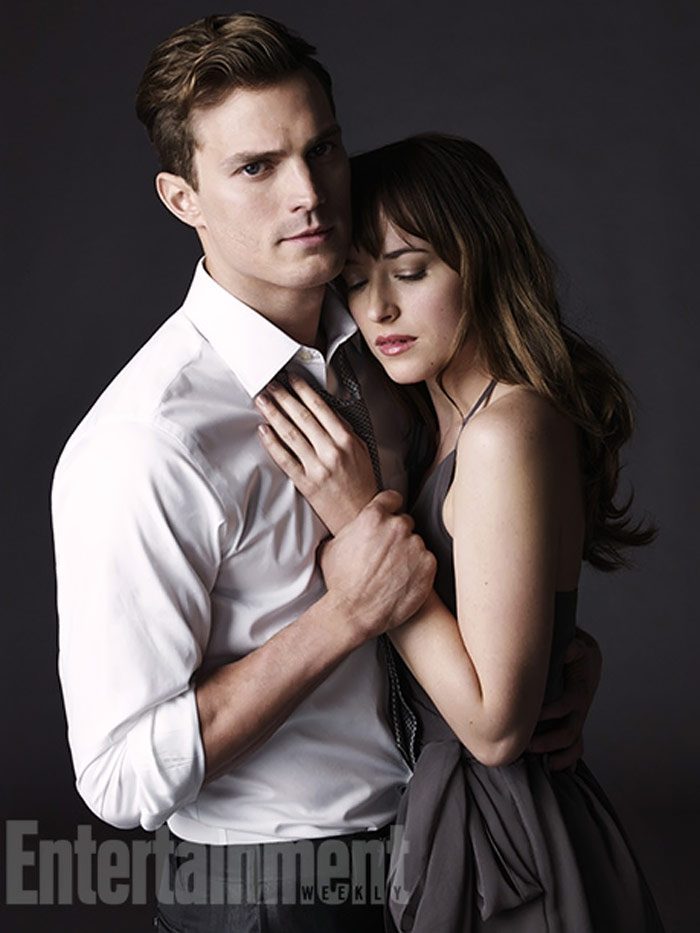 Jamie Dornan y Dakota Johnson como Christian Grey y Anastasia Steele