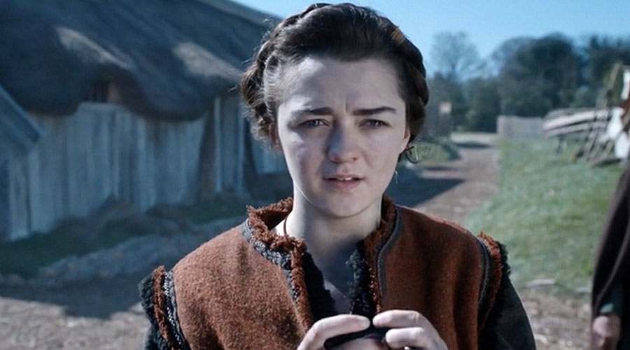 Maisie Williams como Ashildr en Doctor Who