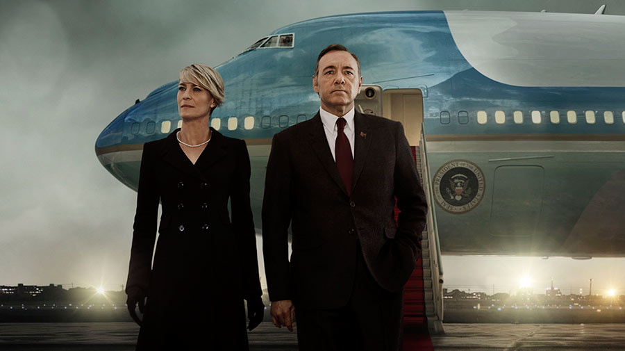 Claire y Frank en House of Cards