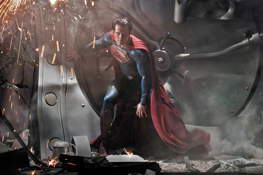 Henry Cavill como Superman en Man of Steel